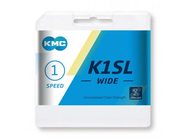KMC K1SL Wide cadena 1 Velocidades, silver